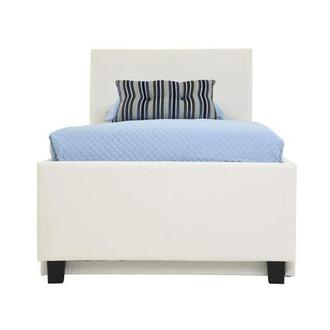 Tate White Twin Bed W Trundle