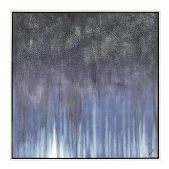 Bleu Sparkle Canvas Wall Art