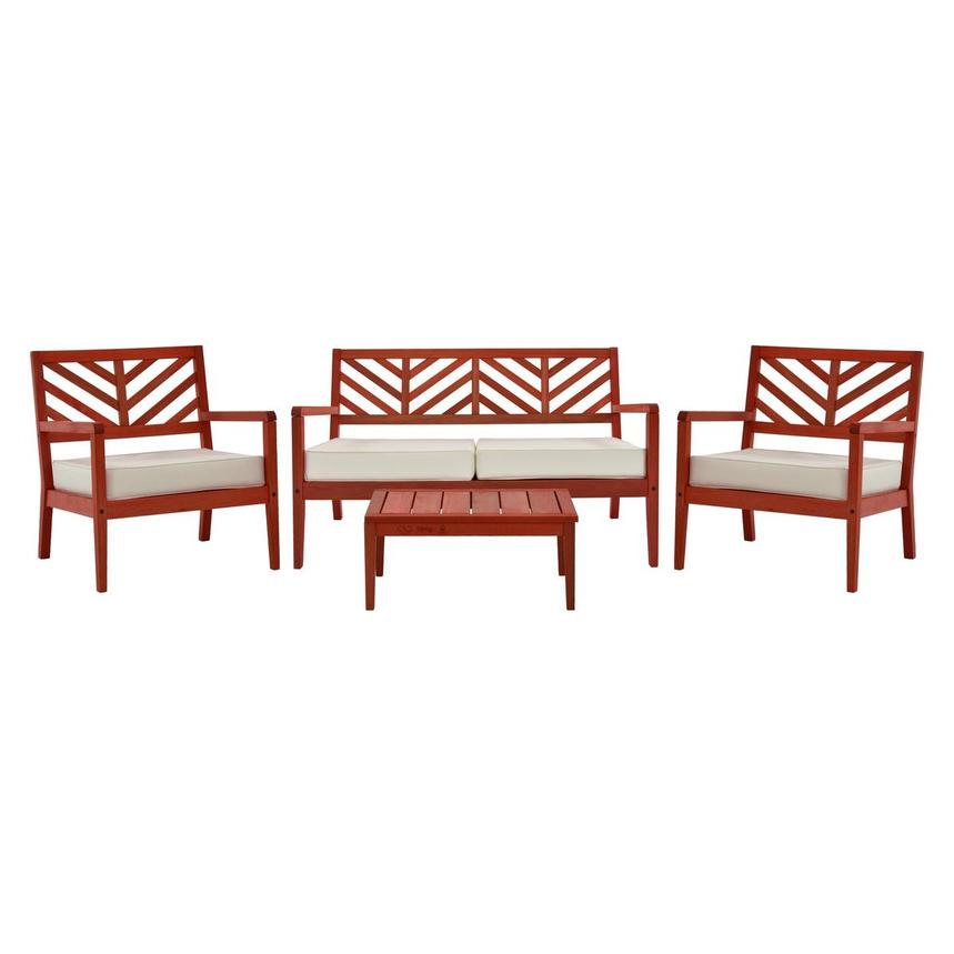 Nassau Red 4-Piece Patio Set Made in Brazil  main image, 1 of 5 images.