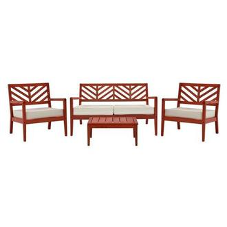 Nassau Red 4-Piece Patio Set Made in Brazil