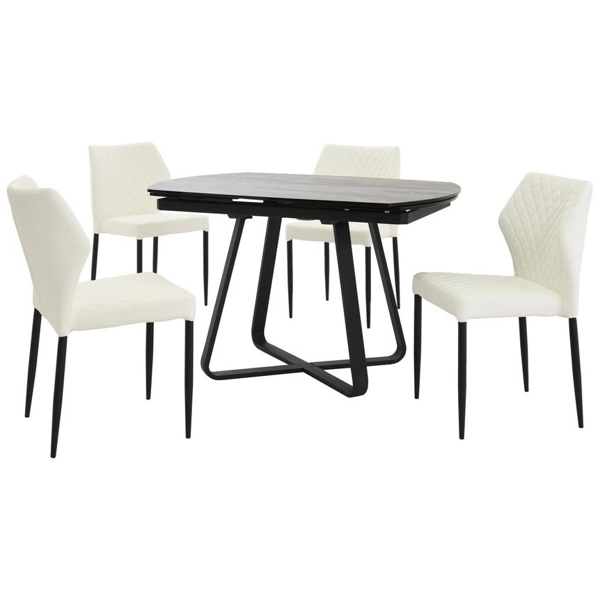 Adelle/Zari White 5-Piece Casual Dining Set  main image, 1 of 14 images.