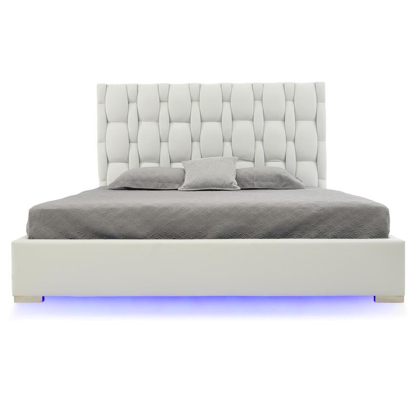 Livia White King Platform Bed  main image, 1 of 7 images.