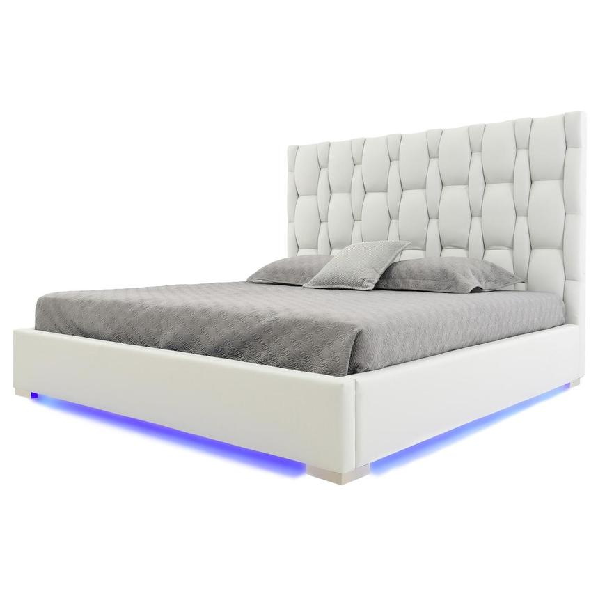 Livia White King Platform Bed  main image, 1 of 9 images.