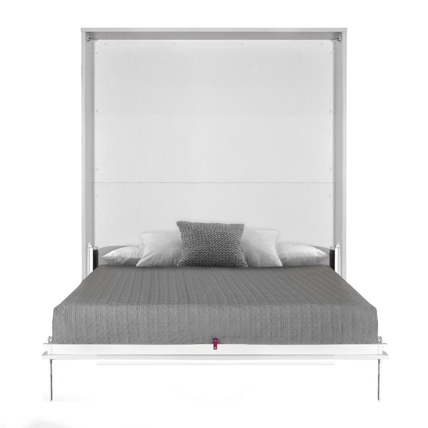 Organizer White Queen Murphy Bed Made in Spain  main image, 1 of 7 images.