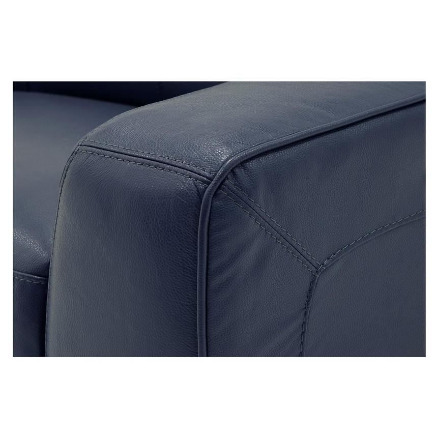 Jay Blue Leather Power Recliner  alternate image, 6 of 9 images.
