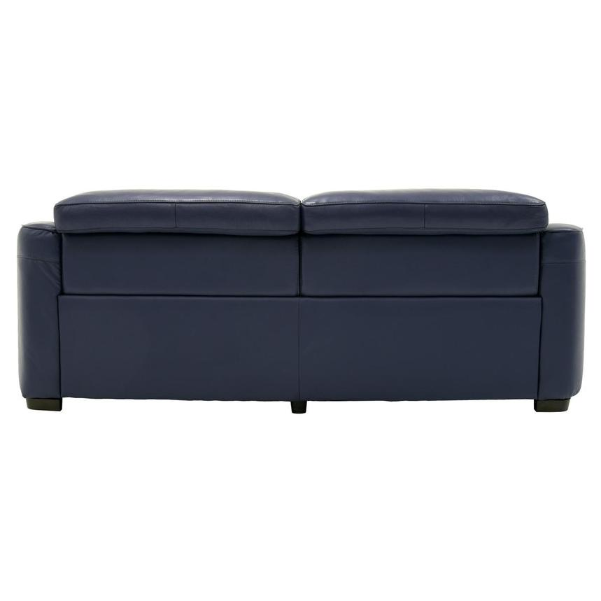 Marvelous Jay Blue Leather Power Reclining Sofa Pdpeps Interior Chair Design Pdpepsorg