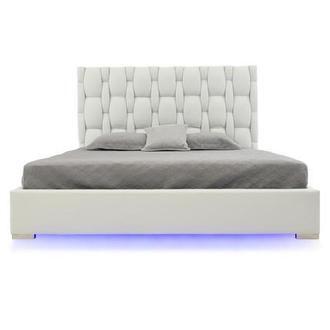 Livia White Queen Platform Bed