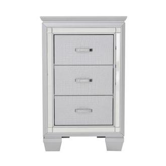 Isabel Gray 3-Drawer Nightstand