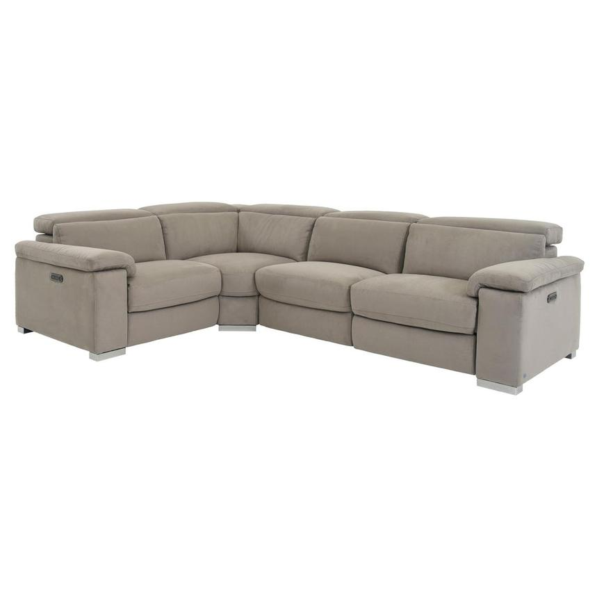 Karly Light Gray Power Motion Sofa w/Right & Left Recliners  main image, 1 of 7 images.
