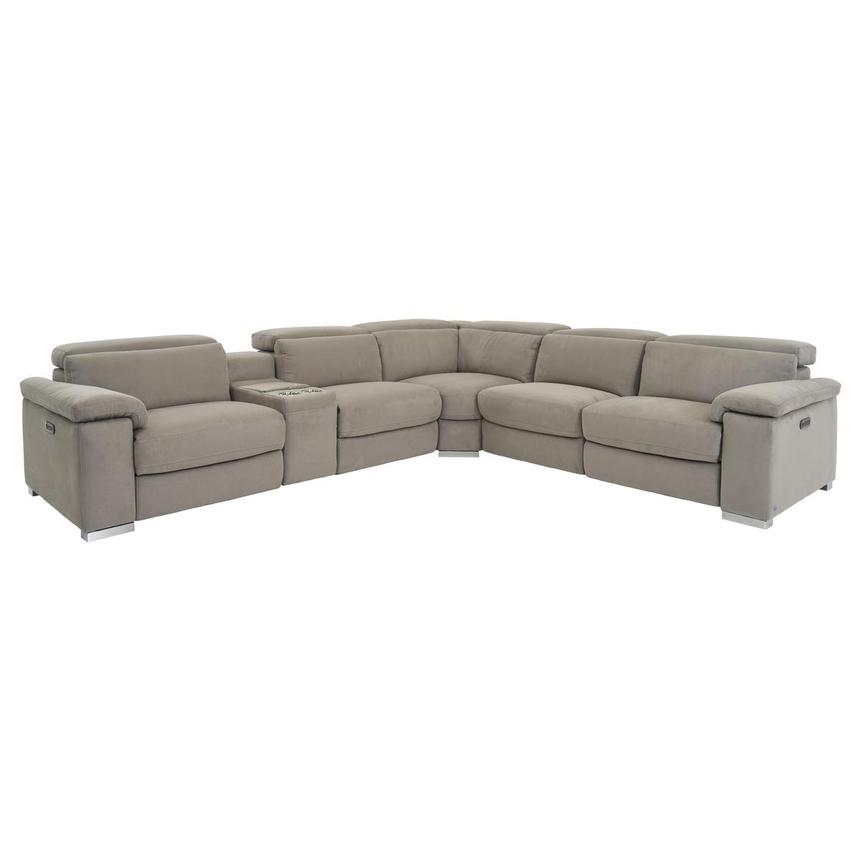 Karly Light Gray Power Motion Sofa w/Right & Left Recliners  main image, 1 of 8 images.