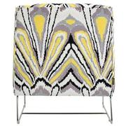 Tutti Frutti Yellow Accent Chair w/2 Pillows  alternate image, 5 of 10 images.