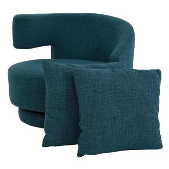 Okru Blue Swivel Chair w/2 Pillows