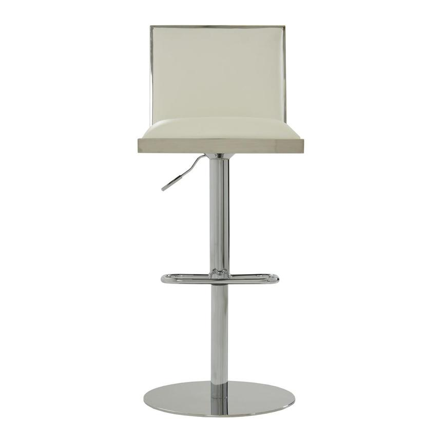 Allison White Adjustable Stool  main image, 1 of 8 images.