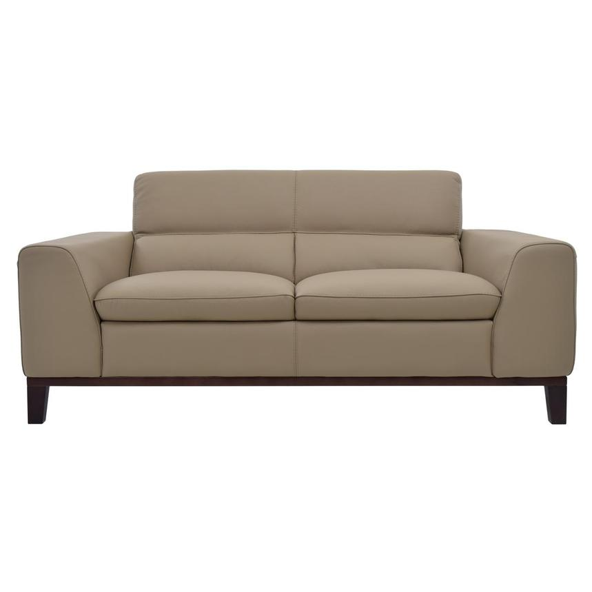 Milani Tan Leather Loveseat  main image, 1 of 8 images.