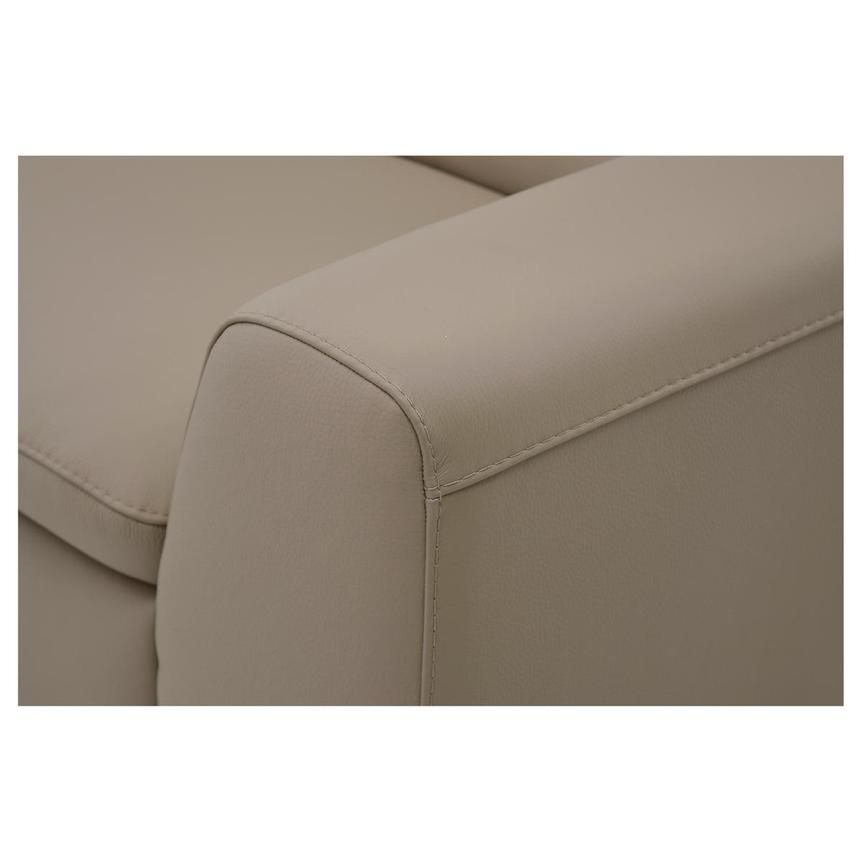 Milani Tan Leather Loveseat  alternate image, 5 of 6 images.
