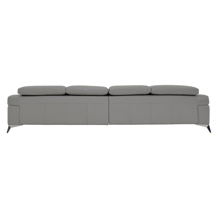 Idris Grey Oversized Leather Sofa  alternate image, 5 of 7 images.