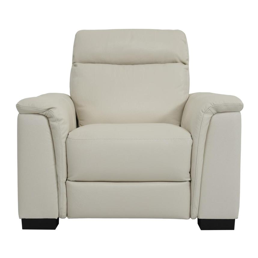 Bari Cream Power Motion Leather Recliner  main image, 1 of 7 images.