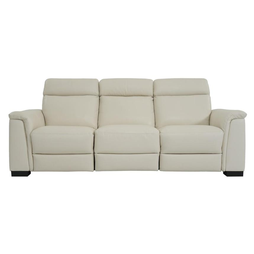 Bari Cream Power Motion Leather Sofa W Right Left Recliners El