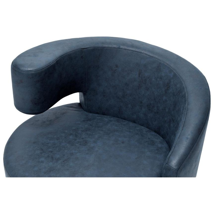 Okru Dark Blue Swivel Chair w/2 Pillows  alternate image, 6 of 10 images.