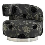 Okru Floral Print Swivel Chair  main image, 1 of 5 images.