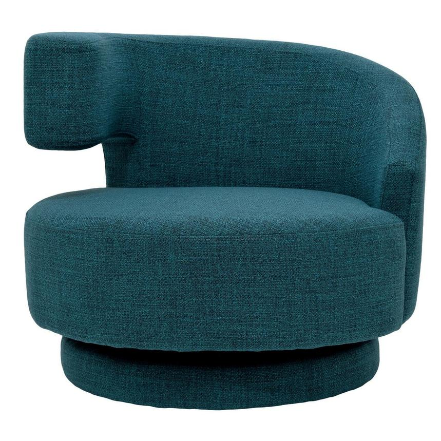 Okru Blue Swivel Chair w/2 Pillows  alternate image, 2 of 11 images.