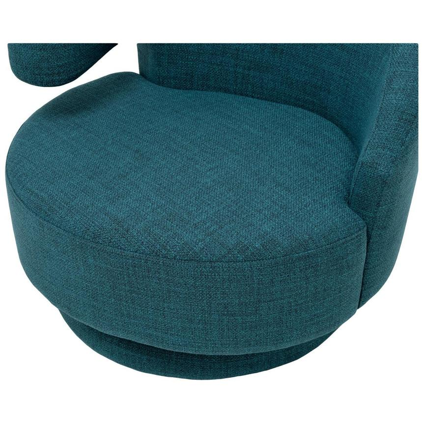 Okru Blue Swivel Chair w/2 Pillows  alternate image, 7 of 11 images.