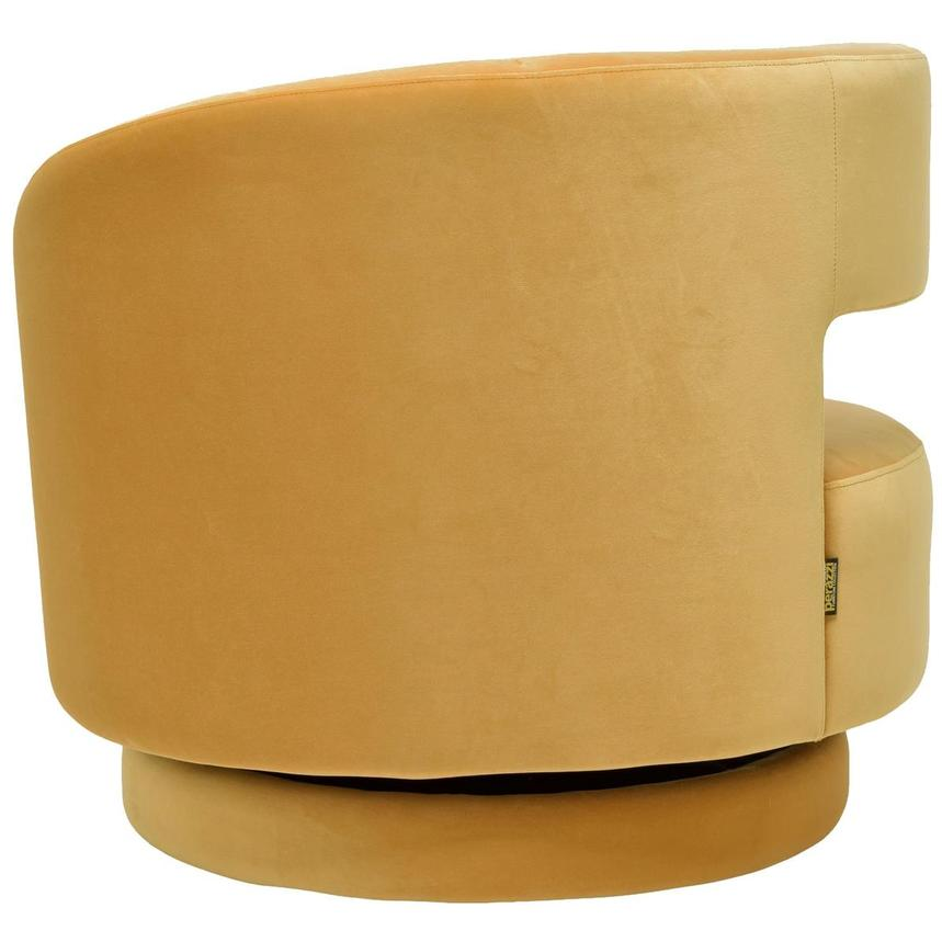 Okru Dark Yellow Swivel Chair w/2 Pillows  alternate image, 5 of 10 images.