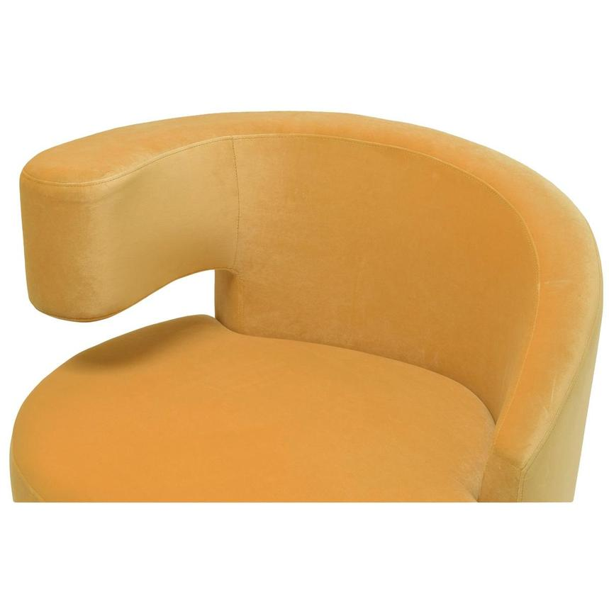 Okru Dark Yellow Swivel Chair w/2 Pillows  alternate image, 6 of 11 images.