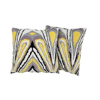 Tutti Frutti Yellow Two Accent Pillows