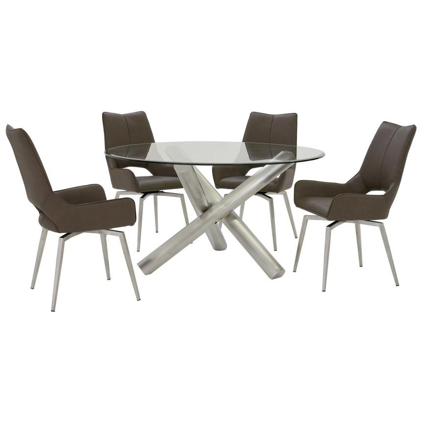 Addison/Kalia Brown 5-Piece Formal Dining Set  main image, 1 of 12 images.