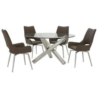 Addison I/Kalia Brown 5-Piece Formal Dining Set