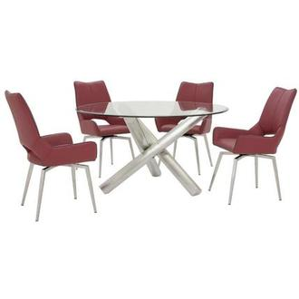 Addison I/Kalia Red 5-Piece Formal Dining Set