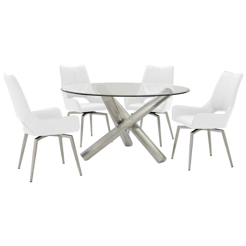 Addison/Kalia White 5-Piece Formal Dining Set  main image, 1 of 11 images.