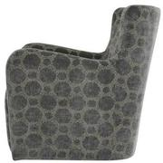 Everly Swivel Accent Chair w/2 Pillows  alternate image, 4 of 11 images.