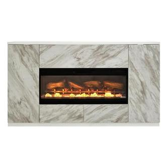 Bright City Faux Fireplace w/Remote Control