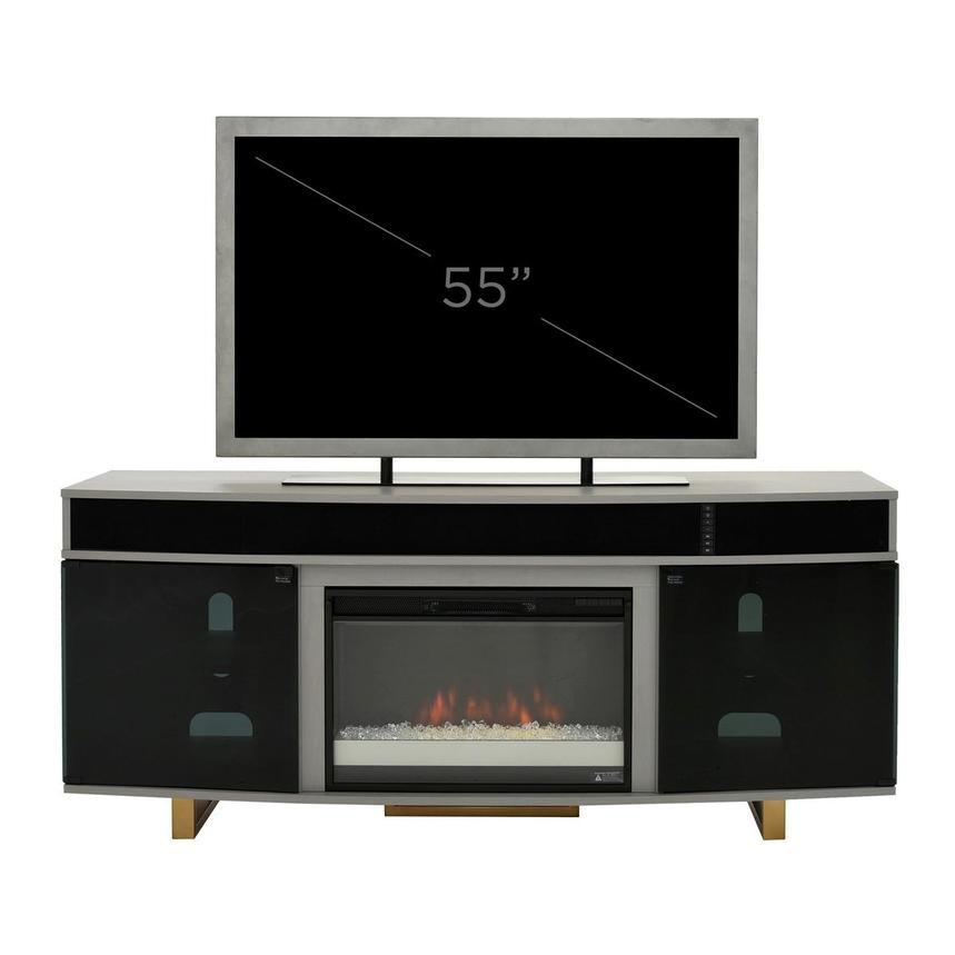 Enterprise Gray Electric Fireplace w/Speakers  alternate image, 8 of 8 images.