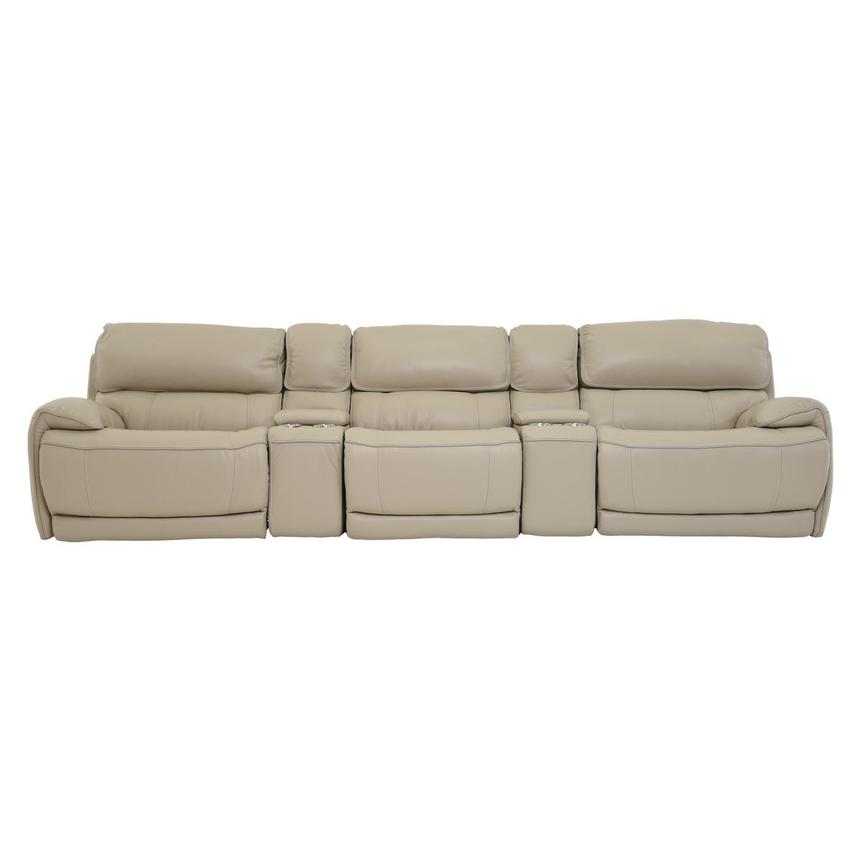 Cody Cream Home Theater Leather Seating w/Right & Left Recliners  main image, 1 of 8 images.