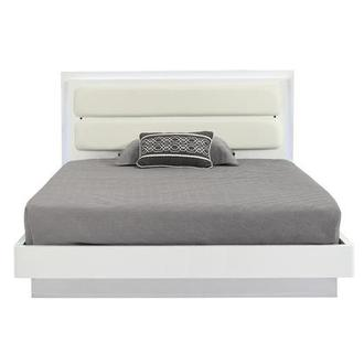 Ally White King Platform Bed