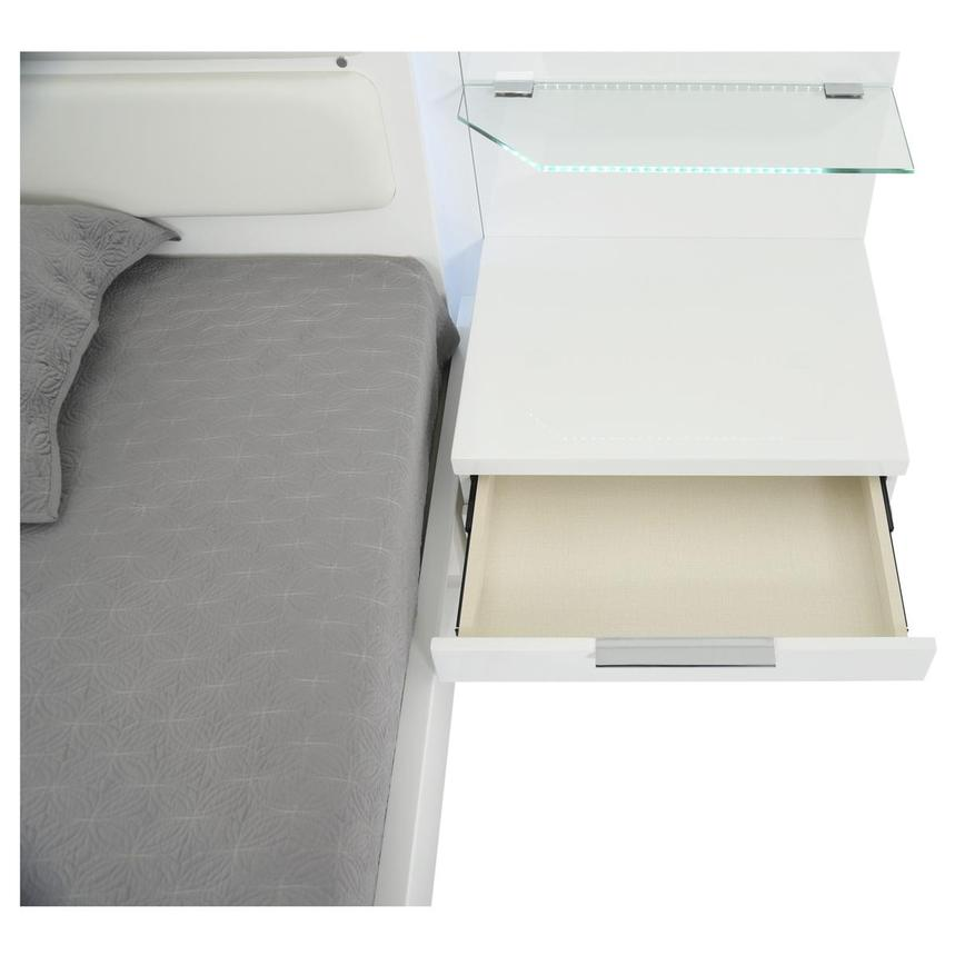 Ally White King Platform Bed w/Nightstands  alternate image, 6 of 16 images.