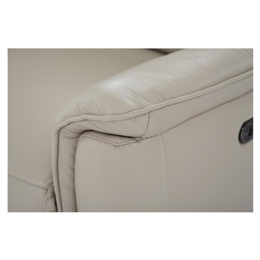 Mayte Cream Power Motion Leather Loveseat  alternate image, 6 of 7 images.