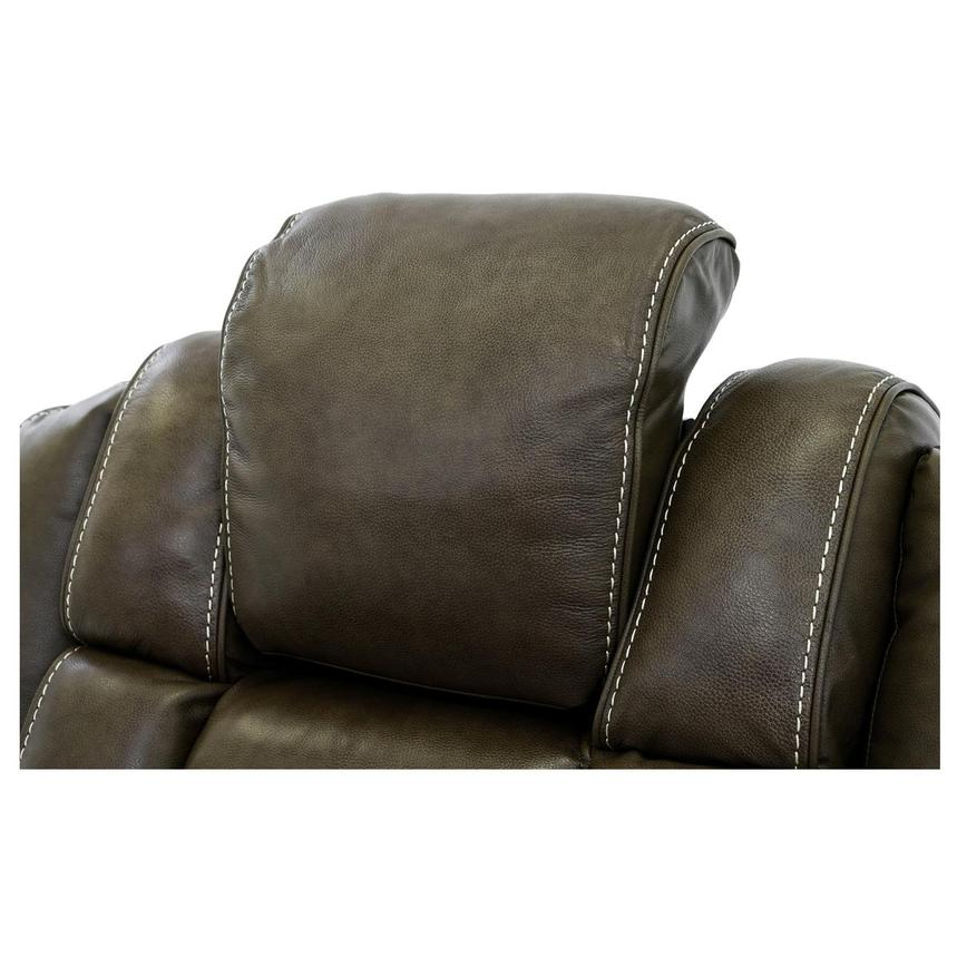 Damon Brown Power Motion Leather Recliner  alternate image, 6 of 10 images.