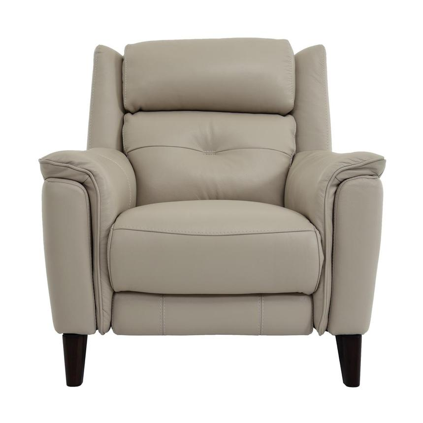 Mayte Cream Power Motion Leather Recliner  main image, 1 of 7 images.