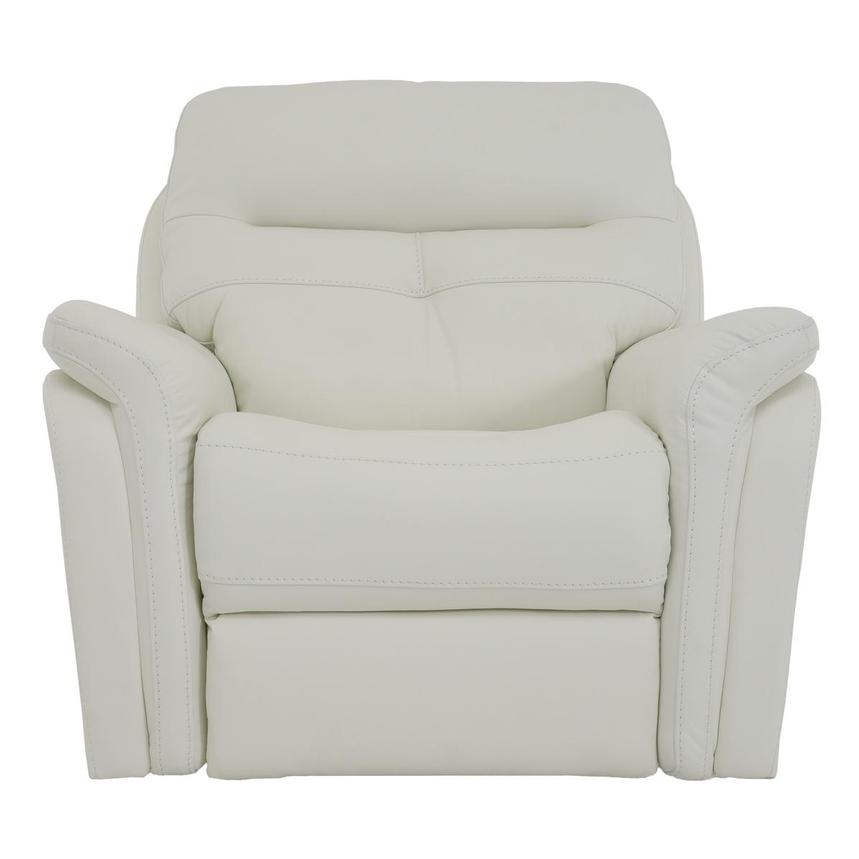 Zane Cream Power Motion Leather Recliner  main image, 1 of 9 images.