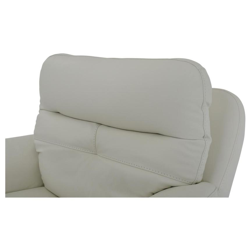 Zane Cream Power Motion Leather Recliner  alternate image, 6 of 9 images.