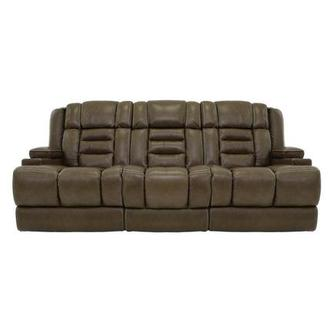 Damon Brown Leather Power Reclining Sofa