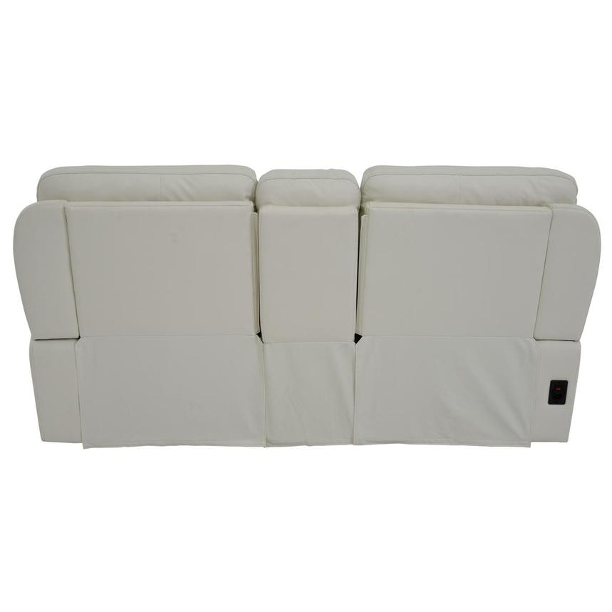 Zane Cream Power Motion Leather Sofa w/Console  alternate image, 5 of 10 images.