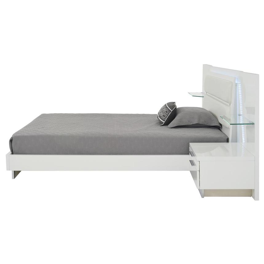 Ally White Queen Platform Bed w/Nightstands  alternate image, 6 of 18 images.