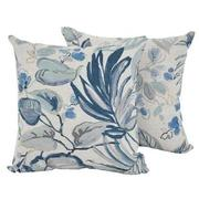 Scarlett Blue Accent Chair w/2 Pillows  alternate image, 9 of 12 images.