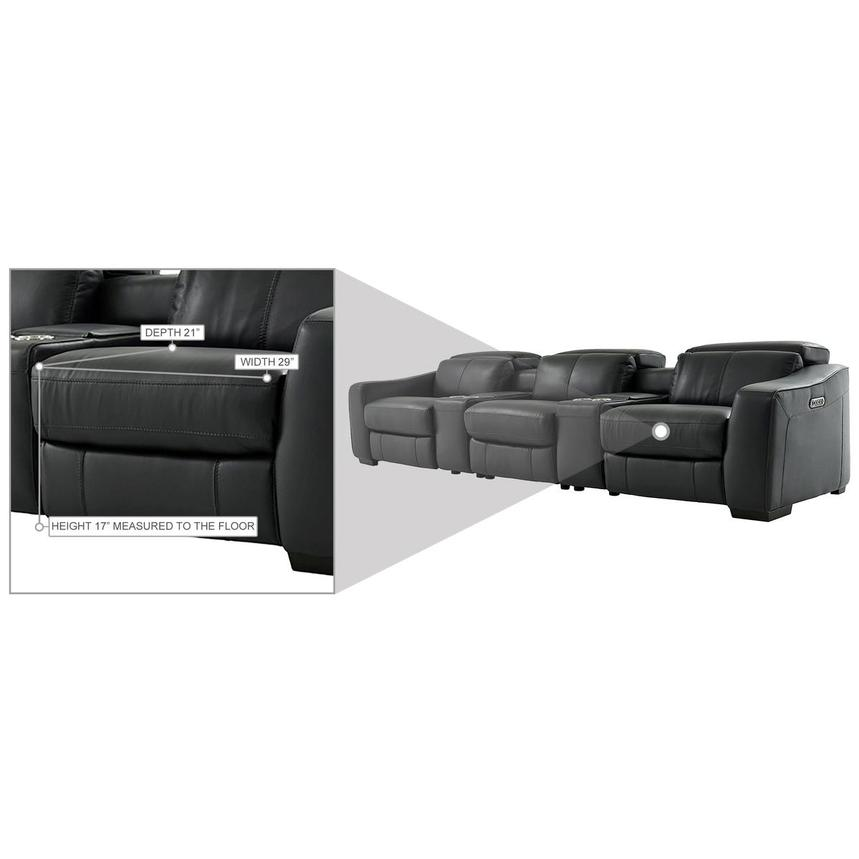 Jay Dark Gray Home Theater Leather Seating  alternate image, 10 of 10 images.