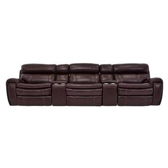 Napa Burgundy Home Theater Leather Seating